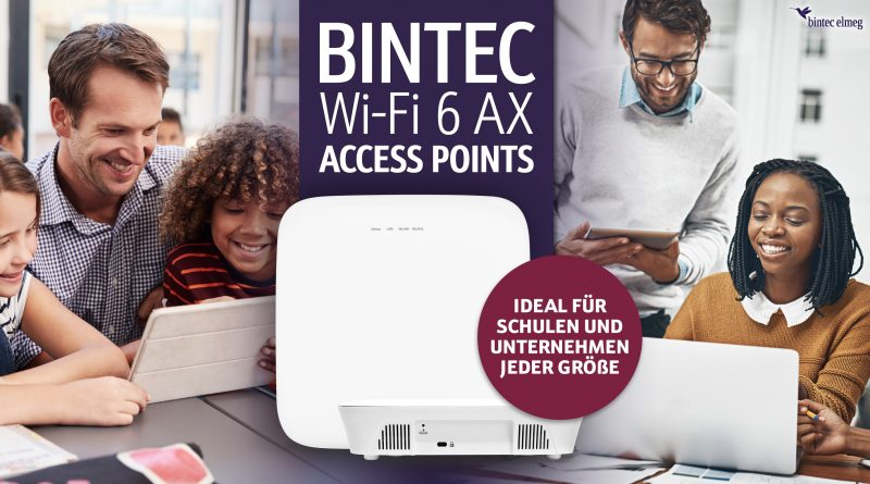 Flexibel verwaltbare WiFi-6 Access Points von bintec elmeg