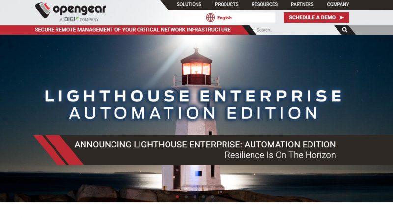 "Neu von Opengear – ""Lighthouse Enterprise: Automation Edition"""
