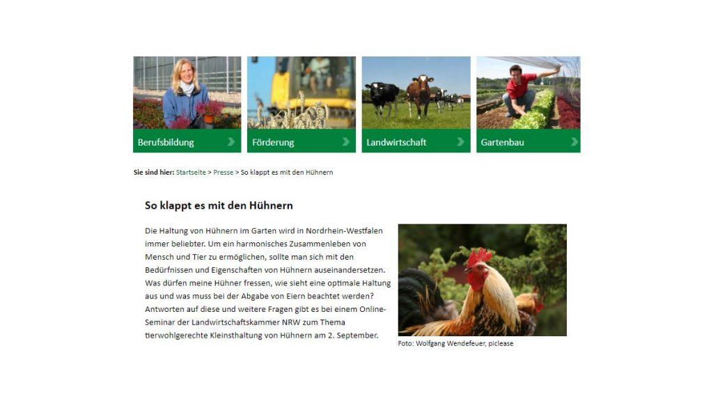Online-Seminar zur Hühnerhaltung_der Landwirtschaftskammer NRW - Screenshot Tutti i sensi