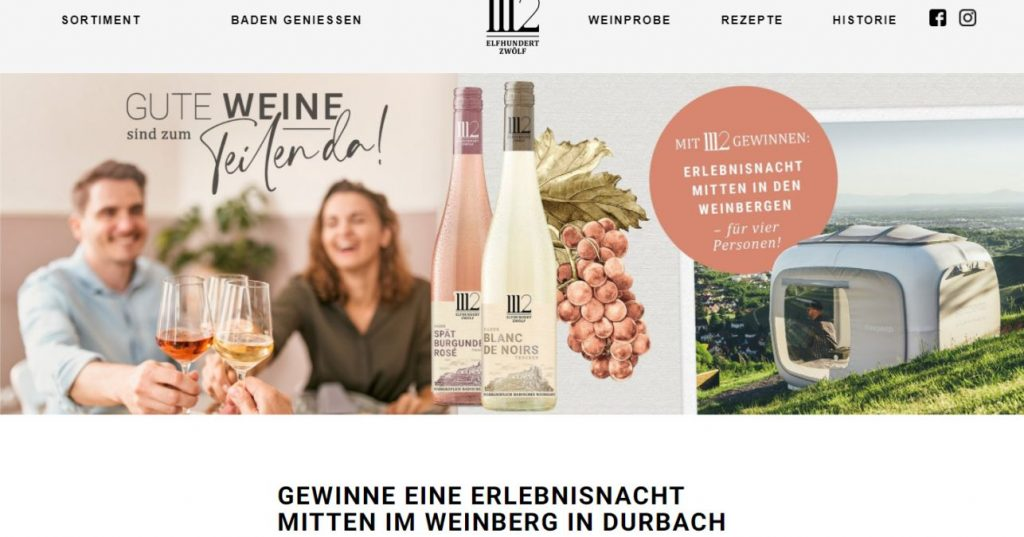 Webseite Elfhundertzwölf -  Screenshot: Sysbus