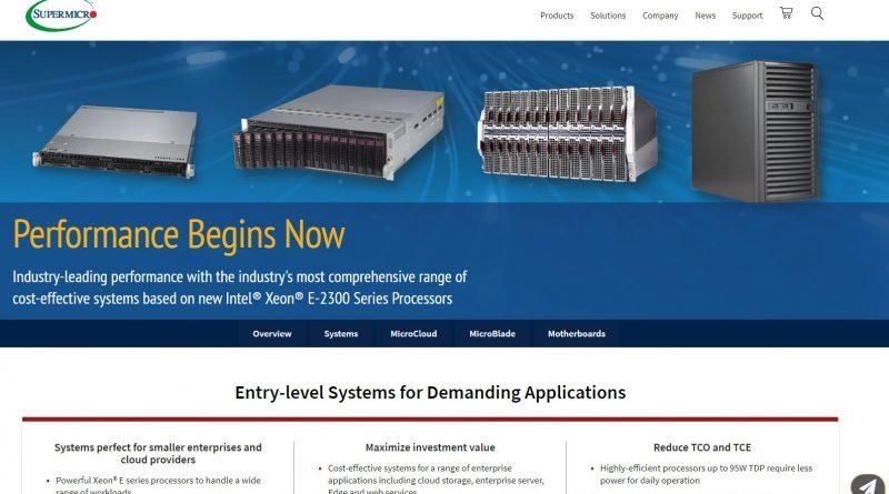 Einzelprozessorsysteme mit hoher Leistung von Supermicro